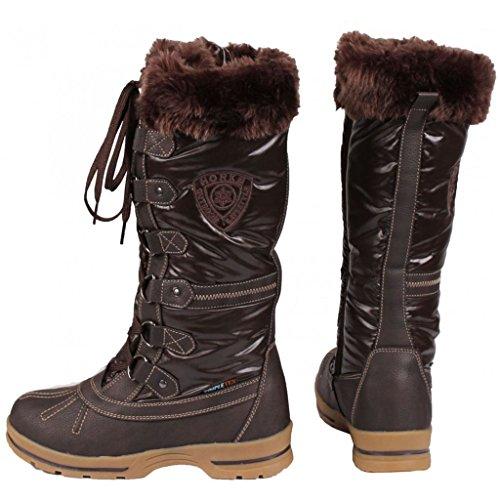 Horka Ecuestre Ladies térmica Invierno Botas de cremallera exterior largo Muck impermeable, marrón marrón
