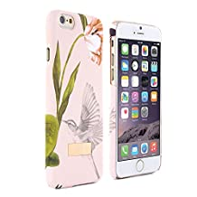 iPhone 6S PLUS Case, Official Ted Baker AW15 Collection, Soft Feel Back Shell Apple iPhone 6 PLUS / 6S PLUS Cover Bird Design Fashion Branded Case For iPhone 6S PLUS - Dobos - Nude