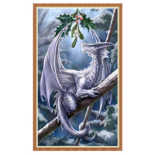 Painting by 5D Diamond Number Kits, Dragon 20X30cm 2018 New Arts Craft Paint DIY Diamond Embroidery Wall (Kit Item Number)