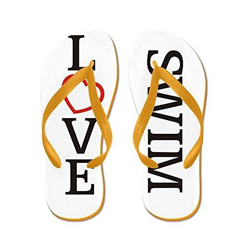 Grande Amore Nuotata - Infradito, Sandali Infradito Divertenti, Sandali Da Spiaggia Arancione