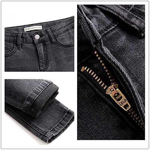 Size Colore Rlwfjxh Plus Well Jeans Skinny Figura Mezza Nero S Cool Stretch Jeans Donna Vita Donn 6l Lavaggio Intera Casuale wfqtnZxXqr