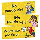 Classroom Phrases Spanish Signs - Set of 12