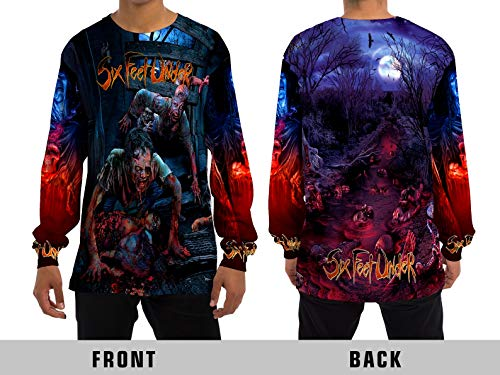 Demonic Six Feet Under American Death Metal Rock Band Unisex Adult Sublimation Print for Men and Momen Long Sleeve T-Shirt (Large) ()