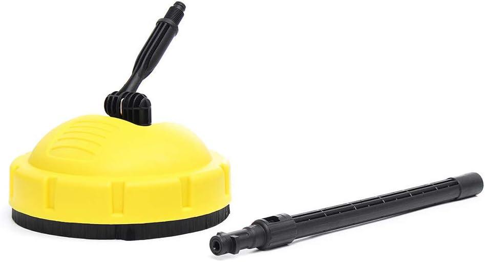 Limpiador a presi/ón con cepillo giratorio para superficies de cubierta limpiador de terraza con adaptador para Karcher K