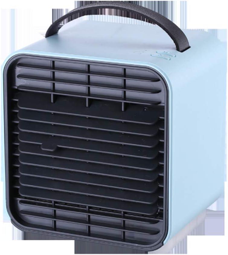 TMXWHYQ Mini Iones Negativos del Aire Acondicionado Ventilador, Escritorio portátil Ventilador de refrigeración móvil, Enfriador de Carga USB,Azul