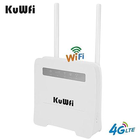 Amazon.com: KuWFi - Enrutador WiFi 4G LTE con ranura para ...