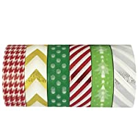 Allydrew Holiday Cheer Washi Tapes Decorative Masking Tapes (AD95), set of 6