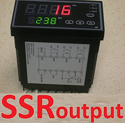 Programmable PID Temperature Controller Ramp and Soak SSR Output with 50 Segment timely cycles fr Kiln Paragon Ceramic Pottery Glass