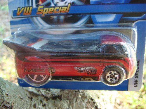 Hot Wheels Exclusive Vw Special Drag Truck Black on Red 5 spoke highly detailed collector no UPC clean card 2005 #186 1/64