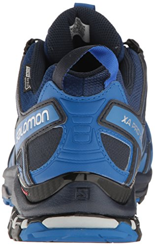 Salomon Mens Xa Pro 3d Trail Runner Imperméable Cs Bleu Profond / Bleu Nautique / Blazer Marine