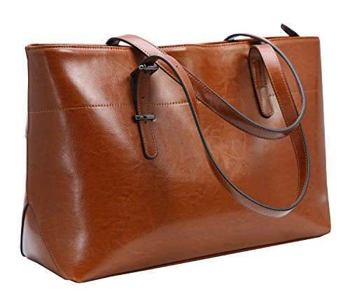Iswee Leather Shoulder Handbags Vintage Work Tote Satchel Pocketbooks for Women on Sale ()