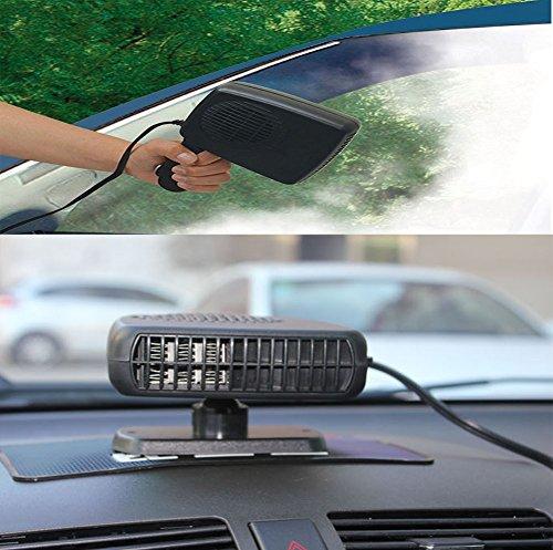 TOPCHANCES 12V 2 in 1 Car Portable Ceramic Heating Cooling Heater Fan Defroster Demister SE