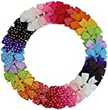 HBF Boutique Kids Grosgrain Ribbon Hair Bow Alligator Clips for Toddler Baby Girls