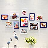 Home@Wall photo frame Living Room Photo Frame Wall ,Creative Wall Photo Frame Combination 11 Pcs/sets Collage,Family Picture Frame Wall DIY Photo Frame Sets ( Color : D , Size : 11frames/13570CM )