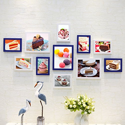 Home@Wall photo frame Living Room Photo Frame Wall ,Creative Wall Photo Frame Combination 11 Pcs/sets Collage,Family Picture Frame Wall DIY Photo Frame Sets ( Color : D , Size : 11frames/13570CM ) by ZGP