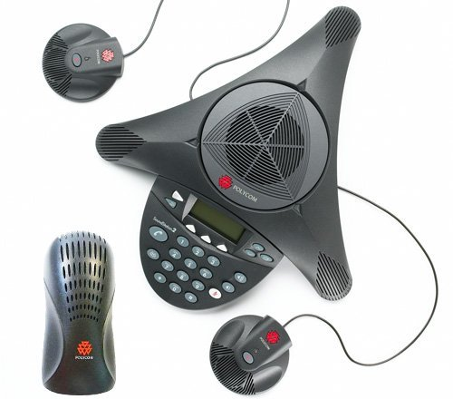 Polycom SoundStation 2 EX with 2 Mics Included (2200-16200-001)+(2200-16155-001) (Renewed) by Polycom (Image #1)