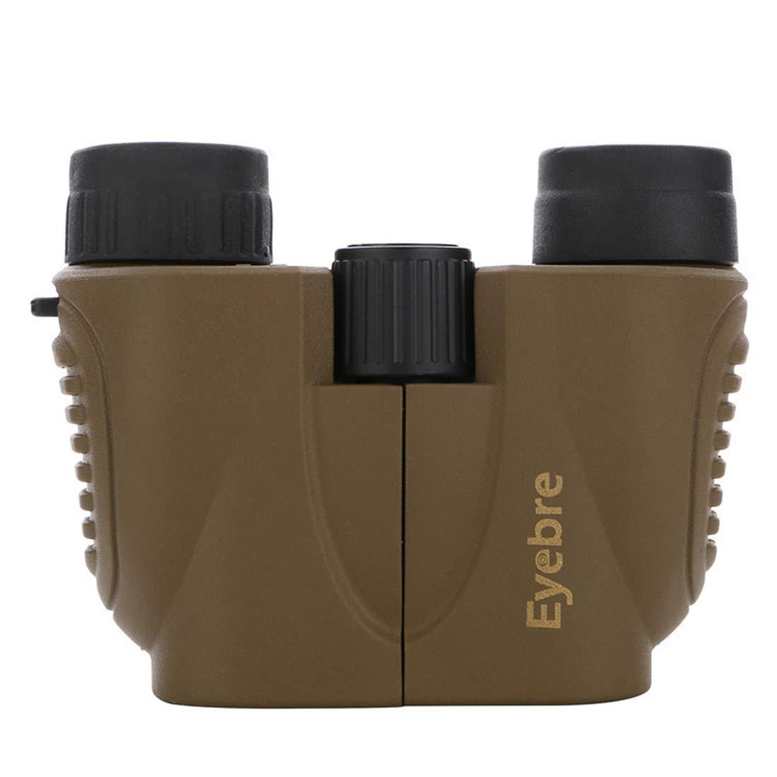 Dhrfyktu Mini prismáticos portátiles de de de Mano con prismáticos 10x22 de Color marrón para Uso en Exteriores (Color : Marrón) 89dc54