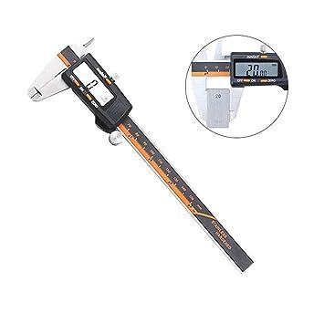 Teepao - Calibrador electrónico Digital Vernier con Pantalla LCD de ...
