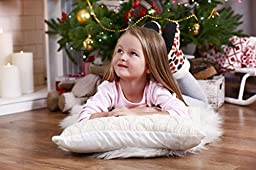Kinder Fluff Toddler / Travel Pillow - 240 Thread Count Cotton Collection - No pillowcase needed - white - 13x18