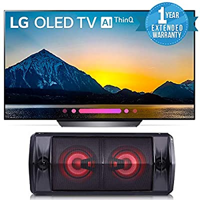 LG 65 inches 4K Smart OLED TV OLED65B8PUA (2018) Bundle with LG FJ5 Bluetooth Speaker + 1 Year Extended Warranty