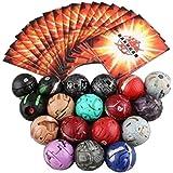 Xcoser New Bakugan Battle Brawlers 18 Bakugan Balls & 18 Bakugan Cards 3.5cm for Kids