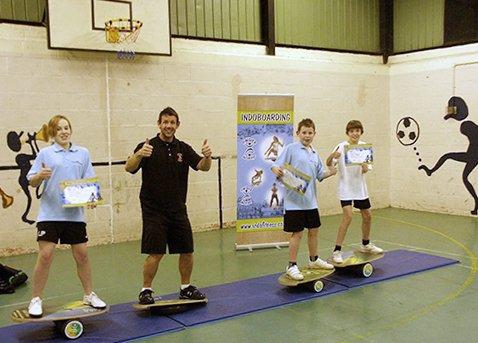Indo Board Balance Board Mini Original Training Kit for Kids - Balance Board, Roller and Cushion by Indo Board Balance Trainers (Image #5)