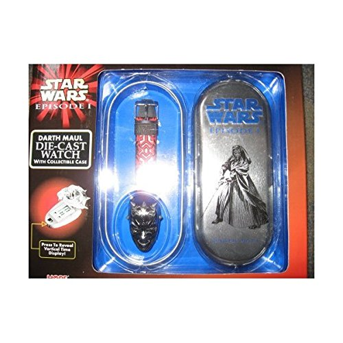 Star Wars Episode I Darth Maul Die-cast Watch with Collectible Case