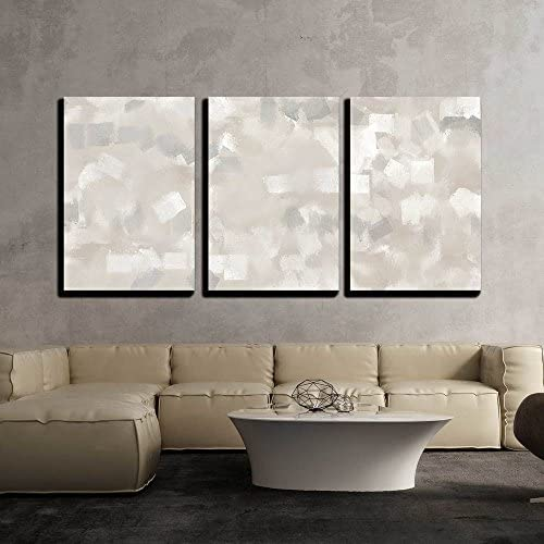 Beige and Grey Art Painting Wall Decor x3 Panels