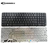 SUNMALL Mate Laptop Keyboard for HP Pavilion 250 G3,255 G3,250 G2,255 G2 15-D 15-E 15-G 15-R 15-N 15-S 15-F 15-H 15-A Series US Black keypad with Frame(6 Months Warranty)