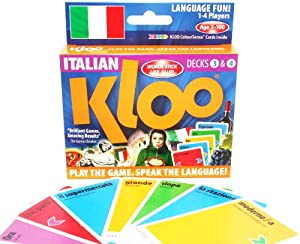 Amazon.com: KLOO's Learn to Speak Italian Language Card Games Pack ...