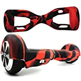FBSport Silicone Case Scratch Protector Wrap Rubber Cover for 6.5 Inch 2 Wheels Balance Scooter Black/red