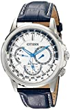 Citizen Men's BU2020-02A Calendrier Stainless Steel Watch With Blue Leather Band