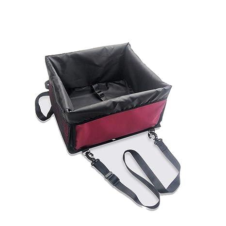 Portador de Asiento Elevador para Auto para Perro, Portador Plegable portátil con cinturón de Seguridad