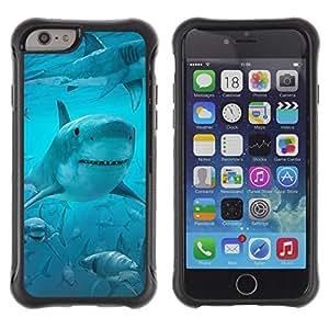 Suave TPU GEL Carcasa Funda Silicona Blando Estuche Caso de protección (para) Apple Iphone 6 / CECELL Phone case / / Shark Smile Funny Ocean Blue Water Sea /