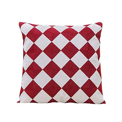 """Baumwollleinen, coolsummer geometrischen Muster Ethnische Stil Baumwolle Stickerei Kissen cover-18""""x 45,7cm"""