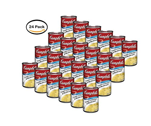 PACK OF 24 - Campbell's Condensed Cream of Chicken & Mushroom Soup, 10.5 oz. by Campbell's