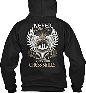 Teespring Unisex Limited Edition: MAN WITH CHESS SKILLS Gildan 8oz Heavy Blend Hoodie