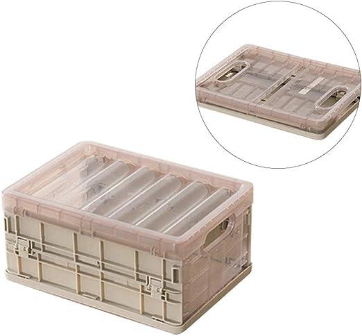 Baffect Pliegue Cajas Plegables, Cajas de Almacenamiento Plegables con Tapa, Cajas Plegables de Almacenamiento de plástico Plegables Cajas de Almacenamiento de plástico apilables (M): Amazon.es: Hogar