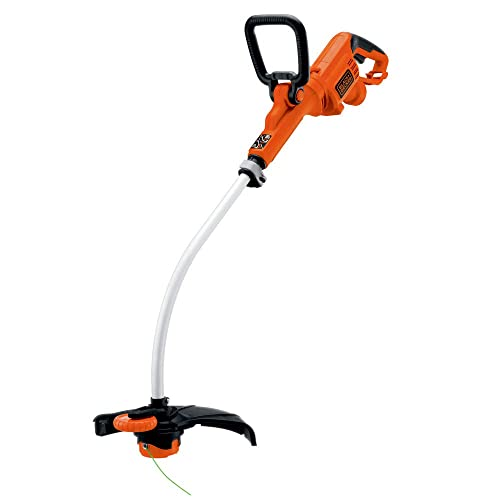 Black Decker GH3000R 7.5 Amp 14 in. Curved Shaft Electric String Trimmer Edger Renewed