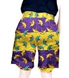 Abetteric Men African Floral Bechwear Relaxed-Fit Oversized Short Pants Eight 3XL