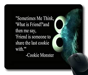 "Cookie Monster about friends Custom Rectangle Mouse Pad Oblong Gaming Mousepad in 220mm*180mm*3mm (9""*7"") -828096"