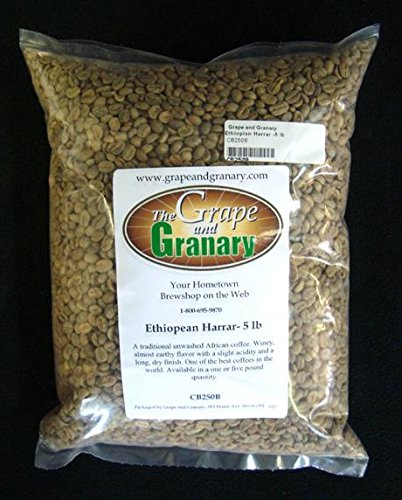 Ethiopian Harrar unroasted Coffee Beans (5LB)
