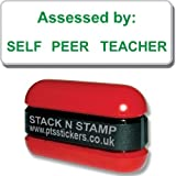 SZ35 Green Ink Assessed By Self / Peer / Teacher School Marking Stamper