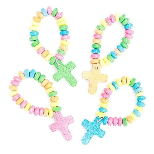 Fun Express Stretchable Candy Cross Bracelets (1 Dozen)