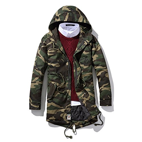 SITENG Men Winter Casual Camouflage Padded Cotton Parka Outwear Coats Jackets(US ()