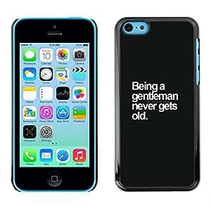 SKCASE Center / Funda Carcasa - Texto Blanco Negro Cartel;;;;;;;; - iPhone 5C