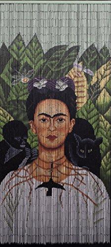 Beads of Paradise NYC Hand beaded bamboo curtain-Frida with monkeys ()