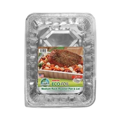 Handi Foil Eco Foil Cook N Carry Medium Roaster Pan with Lid -- 6 per case.