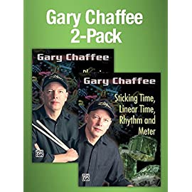 Picture of the Gary Chaffee 2-pack of the DVDs Sticking time and Phrasing and Motion by master drum teacher Gary Chaffee.