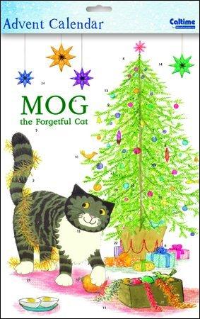 Advent Calendar (WDM0161) - Mog the Forgetful Cat - Mischievous Mog - Glitter Varnished Woodmansterne